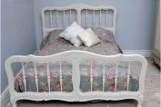 SUPERB VINTAGE FRENCH PROVENÇAL STYLE DOUBLE BED