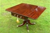 A REGENCY MAHOGANY DROP LEAF PEMBROKE TABLE c1830