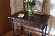 French antique walnut bureau With single drawer