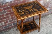 Bamboo table with butterflies