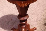 Victorian Pedestal Inlaid Sewing Table