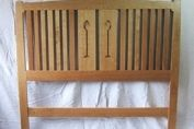 Bed head board art and crafts style
