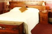 Railway Sleeper Pedestal Bed Headboard