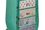 Patchwork 5 Drawer Chest