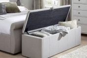 Lucia Storage Chest - Grey Fabric