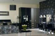 High Gloss Black Bedroom