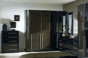 High Gloss Ebony Bedroom