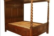 Rope Twisted Four Poster Bed