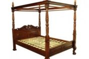 Queen Anne Four Poster Bed (Mahogany)