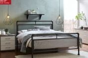 Ruskin Dark Metal Bed Frame