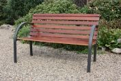 Garden Furniture Menorca Bench - Wood & Metal