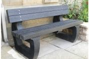 Colne 3 seater garden bench moulded ends