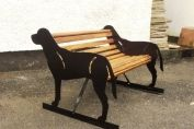 Two Seater Labrador Dog Bench