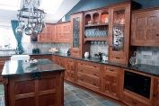 Dark oak kitchen