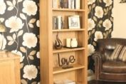 Baumhaus Aston Oak Tall Bookcase Contemporary Light Oak Furniture