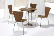 Café Conference Wooden Stacking Picasso 4 Leg Walnut