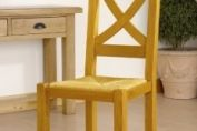 X Back Chair with Wooden Seat