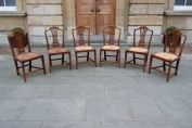 A True Set Of Six Late 18th Century Elm Dining Chairs