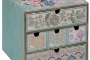 Patchwork Patterned Mini Chest of Drawers