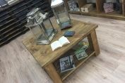 36 x 36 inch Plank Coffee table with shelf
