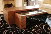 Bespoke two piece coffee table