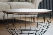 Iron and Wood Coffee Table- Round