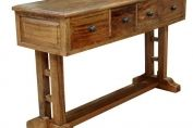 MANGO WOOD PROVENCE REFECTORY CONSOLE TABLE