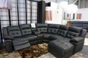 LA-Z-BOY NASHVILLE POWER RECLINING BLACK CHAISE CORNER SOFA