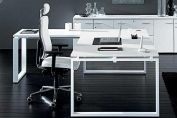 Dove White Executive Desk