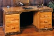 Executive Desk from reclaimed railway sleepers