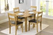 HASTINGS EXTENDING 60-120CM DINING TABLE WITH 4 CHAIRS