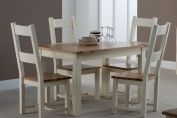 Isthmus Extending Dining Table with 6 Dining Chairs