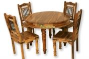 CIRC1 - Jali 110CM Round Dining Table Set