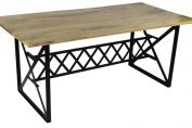 Industrial Zigzag 8 Seater Dining Table