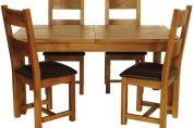 Livingston Dark Oak Extending Dining Table Set