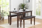 MANILVA DARK 110CM DINING TABLE WITH BENCHES