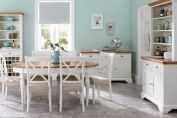 Odessa cotton and oak dining