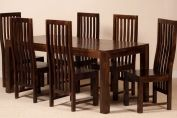 Dakota Dark Mango 6 Seater Dining Set