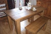 Bespoke solid wood dining table