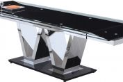 Neo extending glass dining table