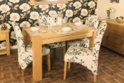 Aston Oak 4 Seater Dining Table Baumhaus Contemporary Oak Furniture