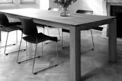 Stretch Teak extendable table