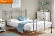 Louis Chrome Metal Bed Frame