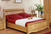 Bordeaux Oak Sleigh Bed, low footboard 4'6'' standard double