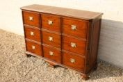 FLUTED DETAILED FILING CABINET 3 x 3 = 9 DRAWER MEDIUM TONED