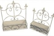Old Rectory Rectangle Wall Planter x 2- Antique Cream
