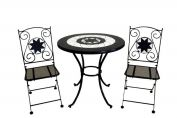 Rimini 2 Seat Bistro Set (60cm table & 2 folding chairs)