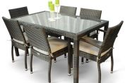 Phuket Rattan Rectangular 6 Seat Dining Set