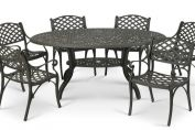 Eclipse 180cm oval table and 6 KD Carver Chairs