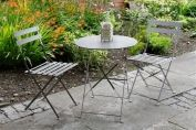 Padstow Folding Bistro Set - Graphite Grey